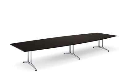 コクヨ 大型会議テーブル WT-200シリーズ ボート型 メラミン天板 配線付き 幅3200mm×奥行き1200×高さ720mm【WT-B211】