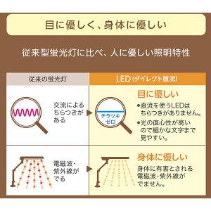 カリモク学習机コーディネートアイテム/LEDスタンドライト・デスクライト/LEDスタンドライト(クランプ式)ホワイト【KS0133SH】