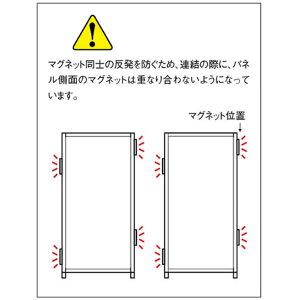 マグネット連結パーティション幅900×高さ1800mmウォールナット【SMP-1809MP-WT】