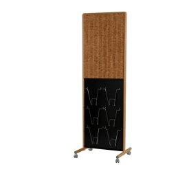 木目調枠アドボード 案内板 片面ピタコルク3X掲示板/有孔ボード 幅577×奥行460×高さ1730mm【UY851B2EM】