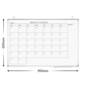 プラス PLUS ホワイトボード 904×604mm 壁掛カレンダー 黒マーカー付 小イレーザー付 ペントレー付 壁掛け カレンダー マグネット対応 オフィス 事務所 店舗 学習用 PWK-0906SSC 428-409