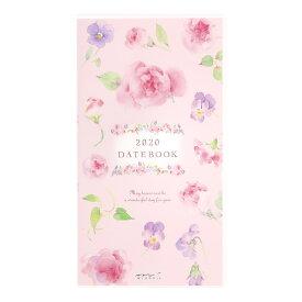 【メール便なら送料190円】デザインフィル 2020年ポケットダイアリースリム カントリータイム 花柄 27789