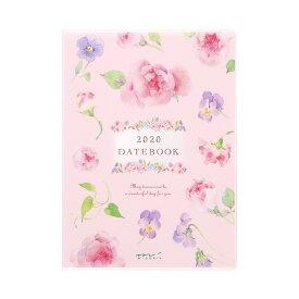 【メール便なら送料190円】デザインフィル 2020年ポケットダイアリーA6 カントリータイム 花柄 27798