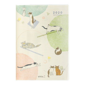 【メール便なら送料190円】デザインフィル 2020年ポケットダイアリーB6 ネコ柄 27804