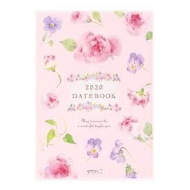 【メール便なら送料190円】デザインフィル 2020年ポケットダイアリーB6 カントリータイム 花柄 27807