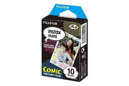 FUJIFILM<富士フイルム>インスタントカメラ チェキ専用 インスタントカラーフィルム instax mini 絵柄入りフレーム コミック チェキフィルム INSTAX MINI COMIC WW 1 【RCP】