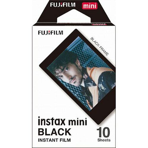 """【メーカー欠品中 1月上旬入荷予定】FUJIFILM<富士フイルム> """"インスタントカメラチェキ""""用フィルム「ブラック」 INSTAXMINIBLACKFRAMEWW1"""