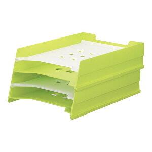 LIHIT LAB.<リヒトラブ> TEFFA マルチレタートレー 4段式 A-7300-6 黄緑 (A-7300-黄緑) 【RCP】