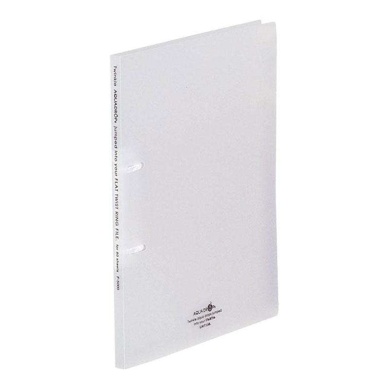 LIHIT LAB.<リヒトラブ> AQUA DROPs<アクア ドロップス> フラット・ツイストリングファイル A4サイズ・S型(タテ型) 2穴 乳白 F5000-1(F-5000-1) 【RCP】