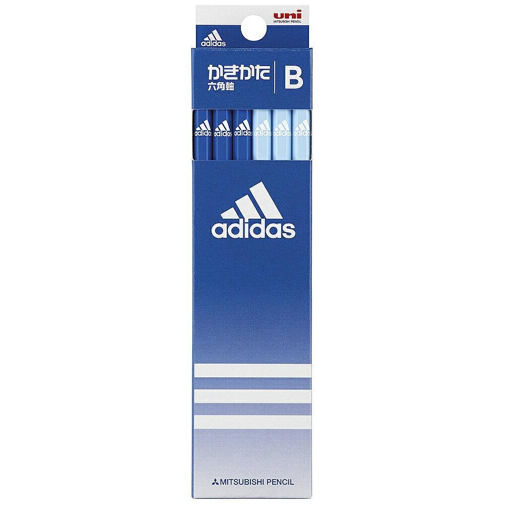 【メール便なら送料120円】三菱鉛筆adidas<アディダス>紙箱鉛筆5587 6角 AI青 B