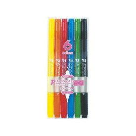【ラッピング対応商品】トンボ鉛筆 水性ペン プレイカラー2 PLAY COLOR 2 6色 GCB-611 【RCP】
