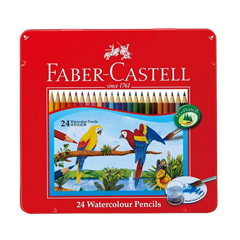 ファーバーカステル(FABER CASTELL) 水彩色鉛筆 24色セット TFC-WCP/24C 【RCP】