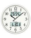 カシオ(CASIO) 壁掛け時計 パールシルバー 電波時計 ITM-660NJ-8JF 【送料無料】 【RCP】 02P03Dec16