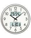 カシオ(CASIO) 壁掛け時計 シルバー 電波時計 ITM-650J-8JF 【送料無料】 【RCP】