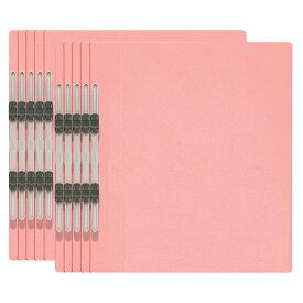 プラス(PLUS)エコノミー フラットファイル 10冊パック A4-S 150枚とじ ピンク NO.021E 79-358