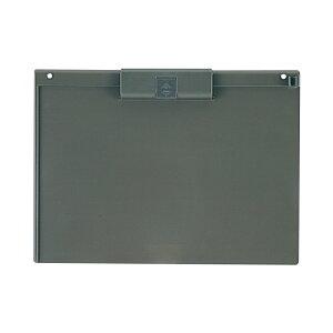 プラス(PLUS)クリップボード 樹脂製 A4-S ダークグレー FL-401CP  83-141