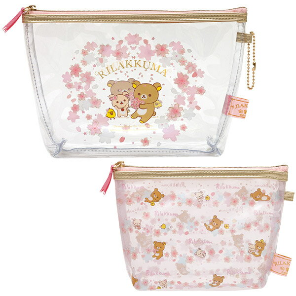 Rilakkuma<リラックマ> リラックマ クリアポーチセット 「桜リラックマ」テーマ CU-36801(CU36801) CU-36801 サンエックス