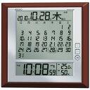 セイコー 電波掛置兼用時計 SQ421B 温湿度・マンスリーカレンダー表示付 茶メタリック