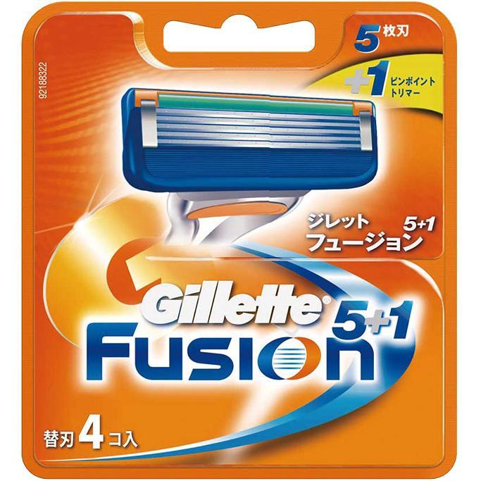 【当社指定送付方法送料無料】Gillette Fusion5+1ジレット フュージョン 替刃4個入髭剃り 替え刃(F)