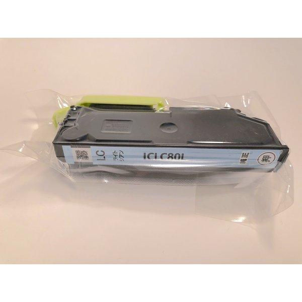 エプソン純正品アウトレット外箱なしインクカートリッジICLC80Lライトシアン