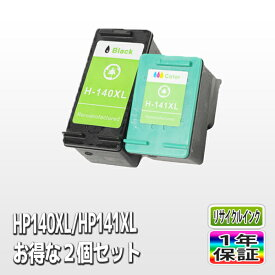 HP (ヒューレット・パッカード) リサイクルインクカートリッジ HP140XL HP141XL 各色1個(計2個) Officejet J5780 J6480 Photosmart C4380 C4275 C4480 C4486 C4490 C4580 C5280 D5360 あす楽対応