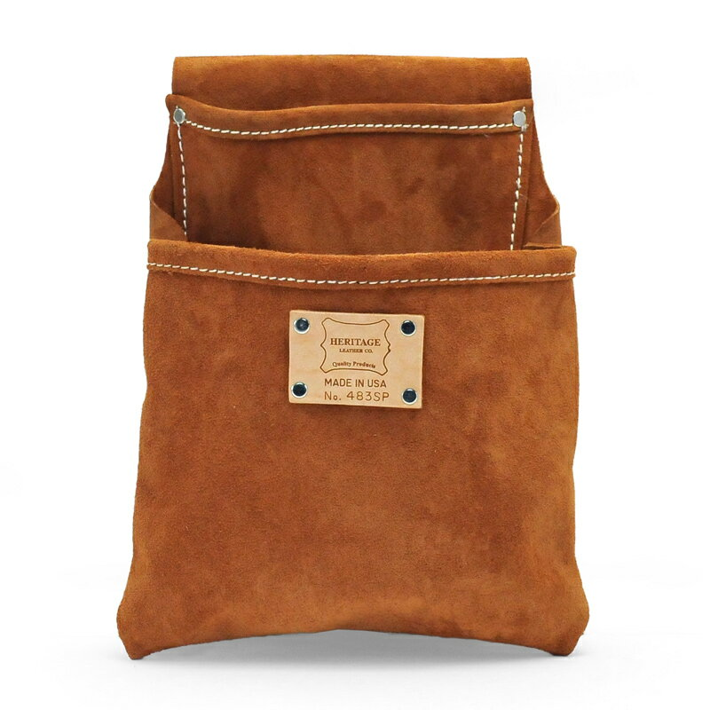 Heritage Leather |483sp 2ポケットプロフェッショナルツールポーチ(スウェード) 2PKT PROFESSIONAL SUEDE TOOL POUCH | ヘリテージレザー