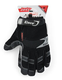 【OUTLET】Kinco Gloves   2041 SYNTHETIC LEATHER STRAP GLOVE   キンコグローブ   手袋 ワークグローブ【ネコポス可】