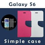 送料無料 Galaxy S6 SC-05G 手帳型ケース 強化ガラスフィルム付