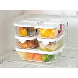 iwaki イワキ パック&レンジ 7点セット ホワイト 耐熱ガラス 保存容器 母の日 プレゼント 実用的 重ねパック システム7 パックアンドレンジ SKC-NPR-W7
