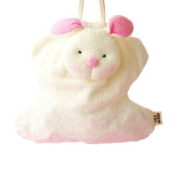 巾着袋ウサギ日本製ぬいぐるみタイプかわいいふわふわハンドメイドパイル地給食袋コップ袋うさぎ兎アニマル3個までネコポスOK