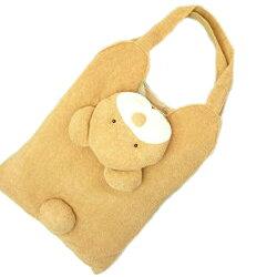 クマトートバッグレッスンバッグA4が入る日本製ぬいぐるみタイプかわいいふわふわハンドメイドパイル地くま熊アニマルネコポス不可