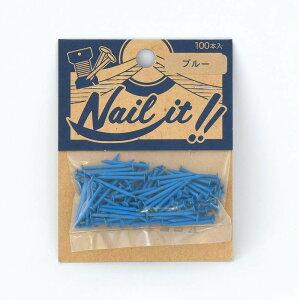 ネコポスOK ストリングアート ネイルイット Nail it 釘 袋入り 100本 ブルー ナチュラル カラーくぎ クギ 手作り ハンドメイド DIY
