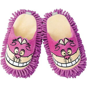 モップスリッパ チェシャ猫 ディズニー 掃除 ルームシューズ 履くだけで床掃除 約23-26cm対応 アリス