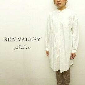 【セール!】サンバレー SUNVALLEY シャツ ワンピース チュニック・ワンピース オックス 日本製品染め 2020年春夏の新色入荷 CP