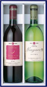 父の日 プレゼント 甘口好きに贈る フルーティ ワインギフト エーデルワイン NTA 甘口 ギフト 赤白セット 2本セット ナイアガラ 白 月のセレナーデ 赤 ライトボディ ワイン プレゼント 甘い 飲みやすい 日本ワイン 国産ワイン