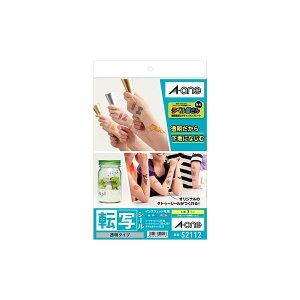 A-one エーワン 52112 転写シール透明A4 7セット 透明タイプ タトゥーシール インクジェット専用 転写シール透明タイプ 用紙 印刷紙 A4判 7シート 印刷用紙 A4サイズ