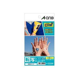 【ポイント2倍】A-one エーワン 52209 転写シール白はがきサイズ 5セット 白地タイプ 転写シール白地タイプ ノーカット タトゥーシール インクジェット専用 5シート