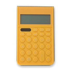 【エントリーでポイント最大16倍:9/20限定】アスカ[C1241Y] カバーつき電卓 イエロー
