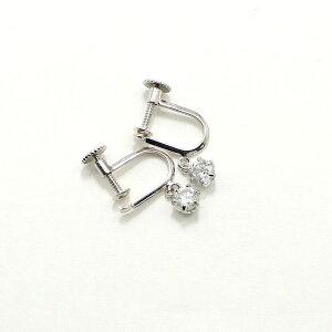 直送・代引不可 ダイヤリング 指輪 0.4ct スゥイング スクリュー式 イヤリング 別商品の同時注文不可
