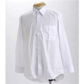 直送・代引不可ブラック & ホワイト ワイシャツ2枚セット 長袖 L 【 2点お得セット 】 別商品の同時注文不可