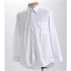 直送・代引不可ブラック & ホワイト ワイシャツ2枚セット 長袖 LL 【 2点お得セット 】 別商品の同時注文不可