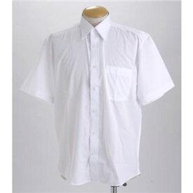 直送・代引不可ブラック & ホワイト ワイシャツ2枚セット 半袖 LL 【 2点お得セット 】 別商品の同時注文不可