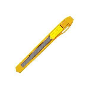 直送・代引不可(業務用300セット) プラス カッターナイフS CU-103 イエロー別商品の同時注文不可