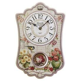 直送・代引不可振り子時計【2個セット】  ピンク別商品の同時注文不可