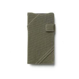 直送・代引不可【Xperia Z2】Zenus Cambridge Diary (ケンブリッジダイアリー) ファブリック ポリカーボネート スナップボタン スタンド機能付 卓上ホルダ対応(khaki)【代引不可】別商品の同時注文不可