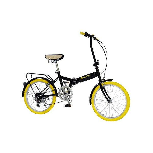 直送・代引不可折りたたみ自転車 20インチ/イエロー(黄) シマノ6段変速 【MIWA】 ミワ FD1B-206【代引不可】別商品の同時注文不可