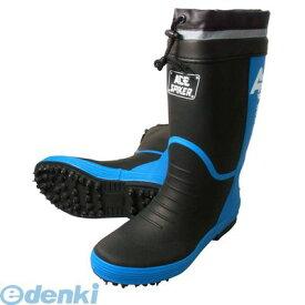 喜多 KITA 4931530562439 ブラック L【25.5〜26.0】 スパイクゴム長靴【カバー付】 KR7200