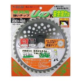[4983517039328] BAKUMA【バクマ工業】 草刈用 刈払いチップソーU40 軽量タイプ 230×40P US−40K