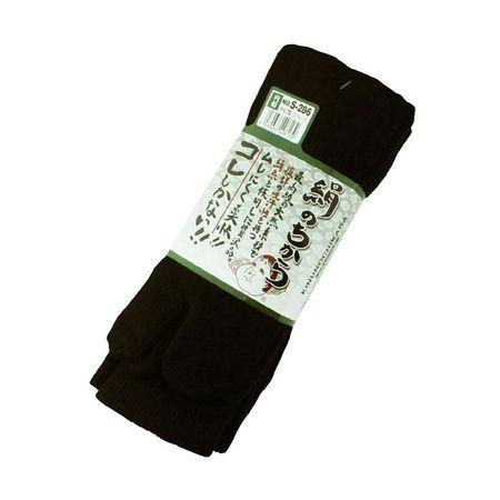 おたふく手袋[4970687408139] 絹のちからタビ型3P ブラック S-286
