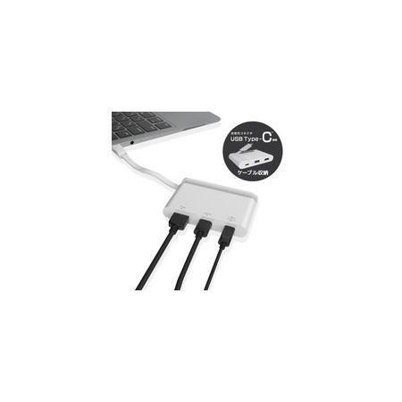 エレコム(ELECOM)[DST-C06WH] USB Type−C接続モバイルドッキングステーション DSTC06WH